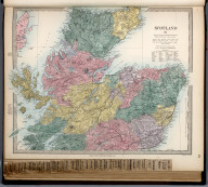 Scotland II., The Family Atlas Containing Eighty Maps, Constructed By Eminent Geographers, And Engraved On Steel, Under The Superintendence Of The Society For The Diffusion Of Useful Knowledge, Including The Geological Map Of England And Wales, By Sir I. Murchison, F.R.S., The Star Maps By Sir John Lubbock, Bart. And The Plans Of London And Paris, With The New Discoveries And Other Improvements To The Latest Date. And An Alphabetical Index. London: Edward Stanford, 6, Charing Cross. 1865.