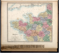 France I., The Family Atlas Containing Eighty Maps, Constructed By Eminent Geographers, And Engraved On Steel, Under The Superintendence Of The Society For The Diffusion Of Useful Knowledge, Including The Geological Map Of England And Wales, By Sir I. Murchison, F.R.S., The Star Maps By Sir John Lubbock, Bart. And The Plans Of London And Paris, With The New Discoveries And Other Improvements To The Latest Date. And An Alphabetical Index. London: Edward Stanford, 6, Charing Cross. 1865.