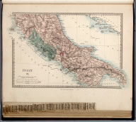 Italy II., The Family Atlas Containing Eighty Maps, Constructed By Eminent Geographers, And Engraved On Steel, Under The Superintendence Of The Society For The Diffusion Of Useful Knowledge, Including The Geological Map Of England And Wales, By Sir I. Murchison, F.R.S., The Star Maps By Sir John Lubbock, Bart. And The Plans Of London And Paris, With The New Discoveries And Other Improvements To The Latest Date. And An Alphabetical Index. London: Edward Stanford, 6, Charing Cross. 1865.