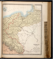 Germany (Deutchland) II. Eastern Part of the Prussian States., The Family Atlas Containing Eighty Maps, Constructed By Eminent Geographers, And Engraved On Steel, Under The Superintendence Of The Society For The Diffusion Of Useful Knowledge, Including The Geological Map Of England And Wales, By Sir I. Murchison, F.R.S., The Star Maps By Sir John Lubbock, Bart. And The Plans Of London And Paris, With The New Discoveries And Other Improvements To The Latest Date. And An Alphabetical Index. London: Edward Stanford, 6, Charing Cross. 1865.