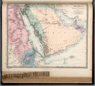 Arabia with Egypt, Nubia, and Abyssinia., The Family Atlas Containing Eighty Maps, Constructed By Eminent Geographers, And Engraved On Steel, Under The Superintendence Of The Society For The Diffusion Of Useful Knowledge, Including The Geological Map Of England And Wales, By Sir I. Murchison, F.R.S., The Star Maps By Sir John Lubbock, Bart. And The Plans Of London And Paris, With The New Discoveries And Other Improvements To The Latest Date. And An Alphabetical Index. London: Edward Stanford, 6, Charing Cross. 1865.