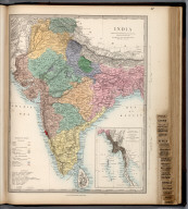 India., The Family Atlas Containing Eighty Maps, Constructed By Eminent Geographers, And Engraved On Steel, Under The Superintendence Of The Society For The Diffusion Of Useful Knowledge, Including The Geological Map Of England And Wales, By Sir I. Murchison, F.R.S., The Star Maps By Sir John Lubbock, Bart. And The Plans Of London And Paris, With The New Discoveries And Other Improvements To The Latest Date. And An Alphabetical Index. London: Edward Stanford, 6, Charing Cross. 1865.