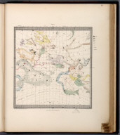 (Stars)., The Family Atlas Containing Eighty Maps, Constructed By Eminent Geographers, And Engraved On Steel, Under The Superintendence Of The Society For The Diffusion Of Useful Knowledge, Including The Geological Map Of England And Wales, By Sir I. Murchison, F.R.S., The Star Maps By Sir John Lubbock, Bart. And The Plans Of London And Paris, With The New Discoveries And Other Improvements To The Latest Date. And An Alphabetical Index. London: Edward Stanford, 6, Charing Cross. 1865.