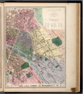 Eastern Division of Paris., The Family Atlas Containing Eighty Maps, Constructed By Eminent Geographers, And Engraved On Steel, Under The Superintendence Of The Society For The Diffusion Of Useful Knowledge, Including The Geological Map Of England And Wales, By Sir I. Murchison, F.R.S., The Star Maps By Sir John Lubbock, Bart. And The Plans Of London And Paris, With The New Discoveries And Other Improvements To The Latest Date. And An Alphabetical Index. London: Edward Stanford, 6, Charing Cross. 1865.