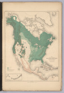 Position of the Forest, Prairie and Treeless Regions of North America