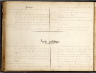 (Text Page to) Asie Physique. (and) Asie Politique. (to accompany) Cours de Geographie. Institution de Mme. Butler. Saint-Omer. Marianne Hunt. 1844., Cours de Geographie. Institution de Mme. Butler. Saint-Omer. Marianne Hunt. 1844., Text Page: (Continues) Asie Physique and Asie Politique