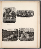 View: Windham County Court House. Mt. Anthony Seminary. Castle Rock of Point of Rocks. Sutherland Falls, Otter Creek.