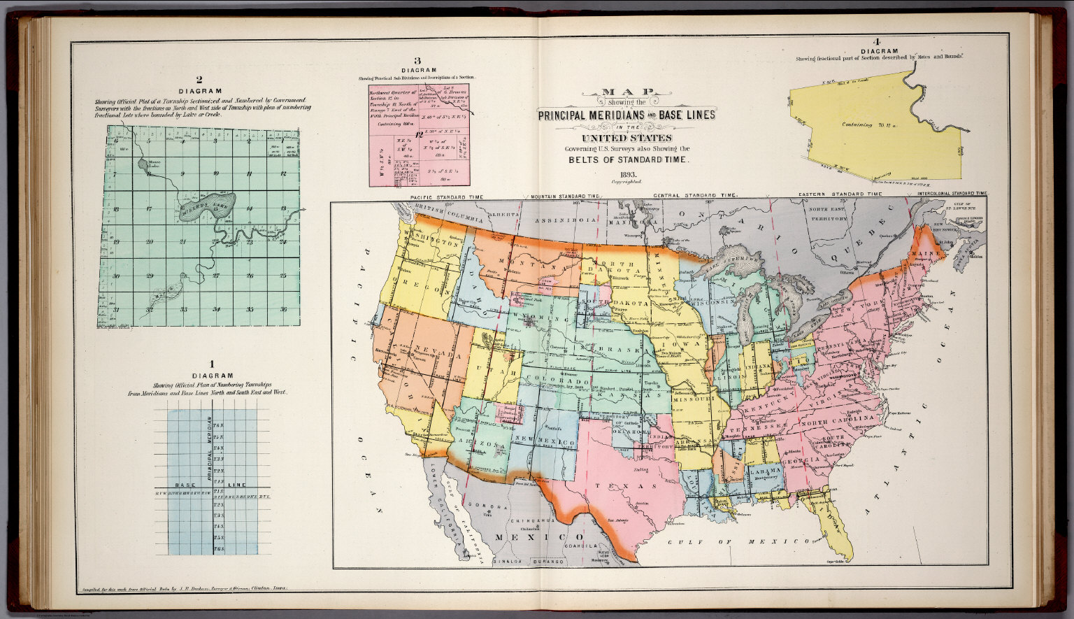 Prinl Meridians and Base Lines in the United States. Standard ... on n. america time zone map, time and date map, tennessee central meridian map, asia time zone map, nebraska time zone map, world time zone map, us mountain time map, us canada time map, us time zone map, us daylight savings time map, zoomable time zone map,