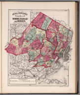 Atlas of New Jersey, Counties of Morris, Passaic and Bergen, and Vicinity of Newark.