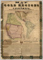 Map Of The Gold Regions Of California