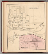 Pittsfield. (inset) Bear Lake., Howden & Odbert's Atlas Of Warren County, Pennsylvania. From Actual Surveys & Records by & under the directions of J.A. Howden & A.O. Odbert, Publishers, Washington, Pa. 1878. Assisted by J.J. Power, T.M.D. McCloy, F.G. Longdon, Capt. W.H. Horn. Artists, Wilson Porter, F. Robejohn, E. Bott, & M.B. Leisser. Engraved, Lithographed & Printed By Otto Krebs, Pittsburgh, Pa., Pittsfield, Warren County, Pennsylvania. Bear Lake.