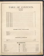(Index Page) Table of Contents.
