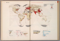 World. Population., World Geo-graphic Atlas, A Composite of Man's Environment. Geography, Geology, Demography, Astronomy, Climatology, Economics. Privately printed for Container Corporation of America, 1953, edited and designed by herbert bayer.