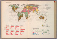 World. Predominant Economies., World Geo-graphic Atlas, A Composite of Man's Environment. Geography, Geology, Demography, Astronomy, Climatology, Economics. Privately printed for Container Corporation of America, 1953, edited and designed by herbert bayer.