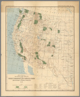 Plate I. The Forest Reserves and National Parks in Western United States, 1899.