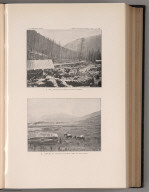 View: Plate XXI. Mill on South Fork of Teton Creek. Valley of North Fork of Sun River.