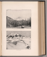View: Plate XXXIV. Mount Rainier and Longmire Springs. Mount Rainier.