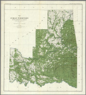 Plate CXLII. Map of Indian Territory, Showing Distribution of Woodland, Compiled under the Direction of C.H. Fitch by Gilbert Thompson, F.E. Matthes and M.L. Cudlipp. 1899.
