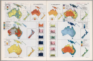 Oceania Thematic Maps., Man's Domain / A Thematic Atlas of the World.