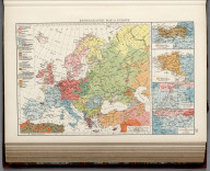 Ethnographic map of Europe. (with 4 insets) District of the Basque language. District of the Breton language. Boundaries of languages in the South-Tyrol. The limits of the Flemish language in Belgium. ( (Published at the office of