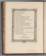 Contents: Table des Cartes et Plans du Ier Volume.(4)