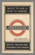 Covers: Underground : Map of the electric railways of London