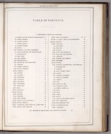 Index Page: Table of Contents.