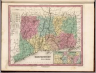 Connecticut by H.S. Tanner., A New Universal Atlas Containing Maps of the various Empires, Kingdoms, States and Republics Of The World. With a special map of each of the United States, Plans of Cities &c. Comprehended in seventy sheets and forming a series of One Hundred And Seventeen Maps, Plans And Sections, By H.S. Tanner ... Philadelphia, Published By The Author. 1842. (title page by) J. Knight Sc., Connecticut.