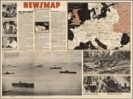 Newsmap : Monday, November 8, 1943 : week of October 28 to November 4 : 217th week of the war : 99th week of U.S. participation. Volume II, No. 29. Drawn by Richard Edes Harrison, 1940. Time Inc. (Fortune). (on verso) This is Ann ... she drinks blood. Her full name is Anopheles Mosquito and she's dying to meet you! ... Prepared and distributed by Army Orientation Course, Special Service Division, Army Service Forces. War Dept., Washington, D.C. Government printing Office, 1943, 538110.