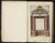 (Title page to) Engraved Title Page (no text): [top] Coat of Arms; [below] Ionic portico, Atlas Maior Sive Cosmographia Blaviana, Qua Solvm, Salvm, Coelvm, Accvratissime Describvntvr., Title: Engraved Title Page (no text): [top] Coat of Arms; [below] Ionic portico