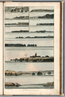 Plate 2. 1. Toulinguet Rock perto de Brest. 2. Conquet and St. Matthewªs Point. 3 Baía de Cameret. 4. Lizard. 5. Ushant. 6. Bec du Raz. 7. St. Matthews. 8. Bertheuame. 9 Brest. Harbour. 10. Cape Prior. 11. Cape Ortegal. 12. Old Harry Studland Bay. 13. Ushant. Engrave'd for I.T. Serres's Little Sea Torch, & Pub. by him, London, 1801., The little sea torch: or, True guide for coasting pilots: by which they are clearly instructed how to navigate along the coasts of England, Ireland, France, Spain, Portugal, Italy, and Sicily; the isles of Malta, Corsica, Sardinia, and others in the straits; and of the coast of Barbary, from Cape Bon to Cape de Verd. Enriched with upwards of one hundred appearances of headlands and lighthouses. Together with plans of the principal harbors. Also a table of soundings, and various explanatory remarks. ... Translated from the French of Le Sieur Bougard, with corrections and additions, by J. T. Serres ... London: Published for the author, by J. Debett, Piccadilly; and also by Messrs, G. and W. Nicol, Booksellers to his Majesty ... 1801. Printed by T. Rochaby, Peterborough-Court, Fleet-Street., Plate 2. 13 Views