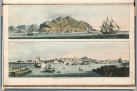 Plate 19. 1. Palermo. 2. Harbour of Malta, with the new city of La Valette. Engrave'd for I.T. Serres's Little Sea Torch, & Pub. by him, London, 1801., The little sea torch: or, True guide for coasting pilots: by which they are clearly instructed how to navigate along the coasts of England, Ireland, France, Spain, Portugal, Italy, and Sicily; the isles of Malta, Corsica, Sardinia, and others in the straits; and of the coast of Barbary, from Cape Bon to Cape de Verd. Enriched with upwards of one hundred appearances of headlands and lighthouses. Together with plans of the principal harbors. Also a table of soundings, and various explanatory remarks. ... Translated from the French of Le Sieur Bougard, with corrections and additions, by J. T. Serres ... London: Published for the author, by J. Debett, Piccadilly; and also by Messrs, G. and W. Nicol, Booksellers to his Majesty ... 1801. Printed by T. Rochaby, Peterborough-Court, Fleet-Street., Plate 19. 2 Views