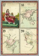 (Playing card maps). 17-20. Asie. Canada. Perse., (Playing card maps)., 17-20: Playing card- maps. Asie. Canada. Perse