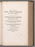 Title Page: Tabvlarvm Ptolemaicarvm delineatio ...