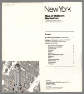 (Composite text) Map of Midtown Manhattan in Detailed Axonometric Projection. Compiled, prepared and published by the Manhattan Map Company, Inc. (Copyright) 1985. (inset) Madison Square Garden district. (cover title) New York. Map of Midtown Manhattan in Detailed Axonometric Projection. The worlds most detail map. New revised edition. Published by the Manhattan Map Company, Inc., 31 East 28th Street, New York, N.Y. 10016. Exported by Topika Business Machines Sales Corp. 521 5th Ave., New York, NY 10175.