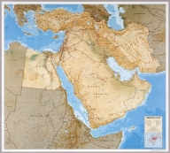 Middle East oil and gas. 802094 (R00646, inset R00647) 4-93. (inset) Persian Gulf. (on verso) Middle East. 802122 (R 00015) 4-93. (to accompany) Central Intelligence Agency : Atlas of the Middle East. January 1993.
