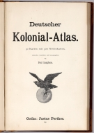 Title: Deutscher Kolonial-Atlas.