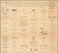 (Text Page) Plan of Old Heidelberg. (Advertisements)., Plan of Old Heidelberg., Text: Plan of Old Heidelberg. (Advertisements)
