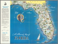 Florida's population by counties. Copyright estimates by Sales Management Magazine, 1954. (On verso) A pictorial map of Florida.