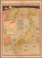 U.S. sea and air power trained on Japan home land