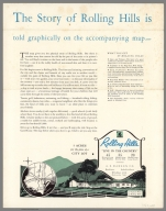Text Page: The story of Rolling Hills is told on the accompanying map