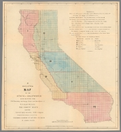 A skeleton map of the State of California.