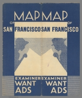 Covers: Map of San Francisco - Examiner Want Ads.