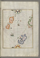 fol. 81b Several islands of the eastern Aegean Sea including Leros and Patmos