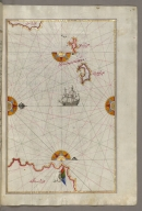 fol. 107b Two small islands between Amorgos and Cos in the eastern Aegean Sea