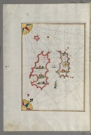 fol. 162a Two as yet unidentified islands in the vicinity of the island of Pag