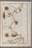 fol. 268b Algerian coastline around Oran and Mostaganem