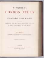 Title Page: Stanford's London atlas of universal geography.