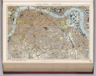 Central London, south east., Stanford's London atlas of universal geography exhibiting the physical and political divisions of the various countries of the world. Folio edition. One hundred and ten maps, with a list of latitudes and longitudes. Third edition, revised and enlarged. London, Edward Stanford, Geographer to Her Majesty, 12, 13 & 14 Long Acre, W.C. 1904., London SE.