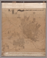 Official Map of the City of Dallas and Suburbs, Revised and Corrected to January 1911.